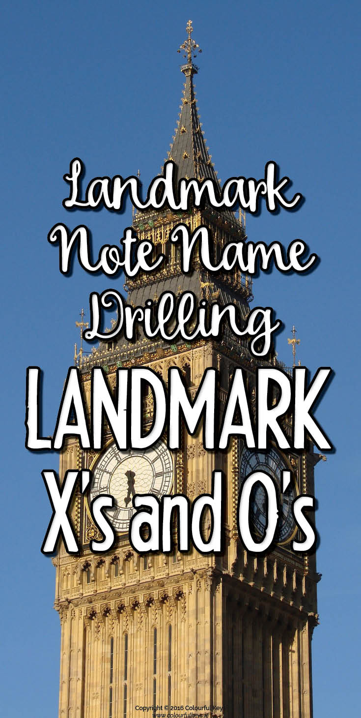 Landmark note board game for music students