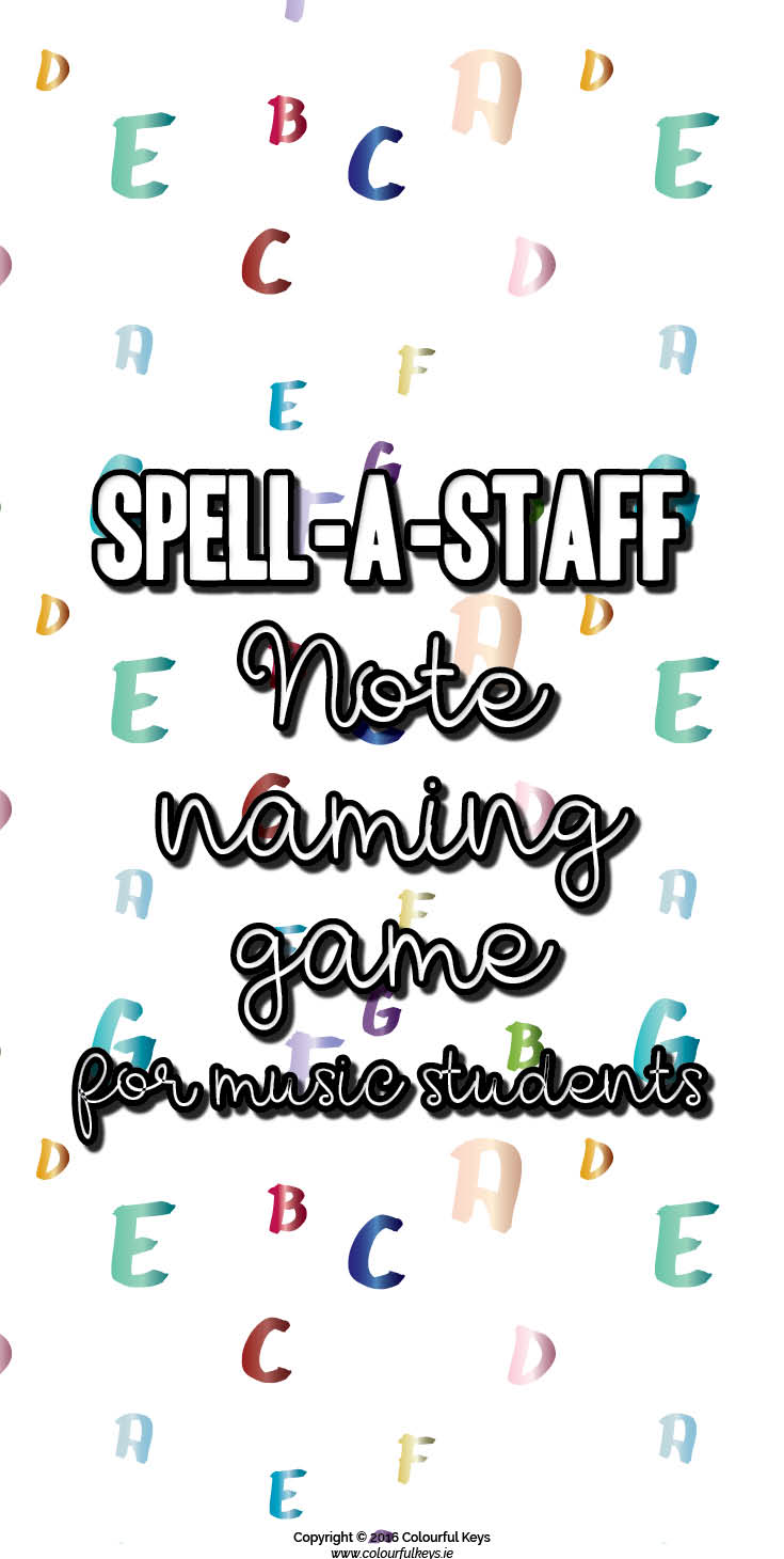 Note speller game for the grand staff