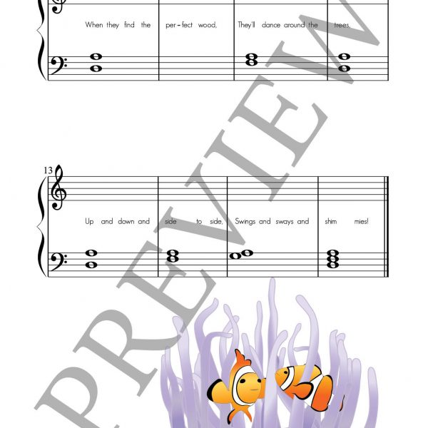 Fishy Fables composing book page 13