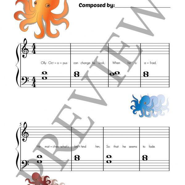 Fishy Fables composing book page 4