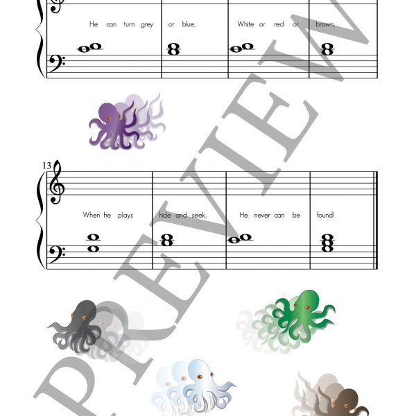 Fishy Fables composing book page 5