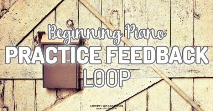 Piano practice feedback loop