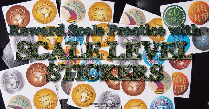 Scale level challenge reward stickers