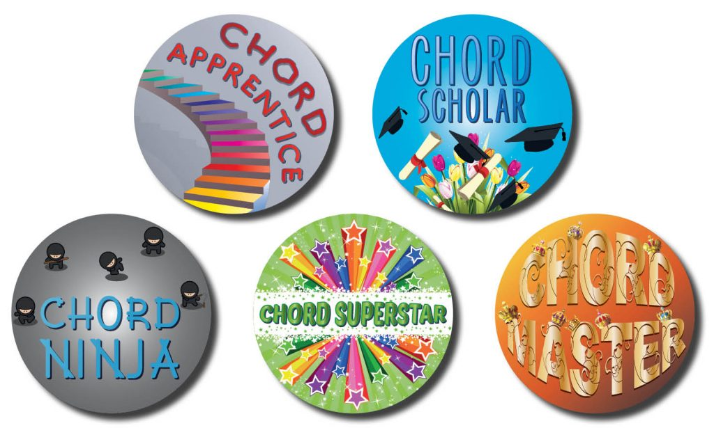 Chord level stickers preview
