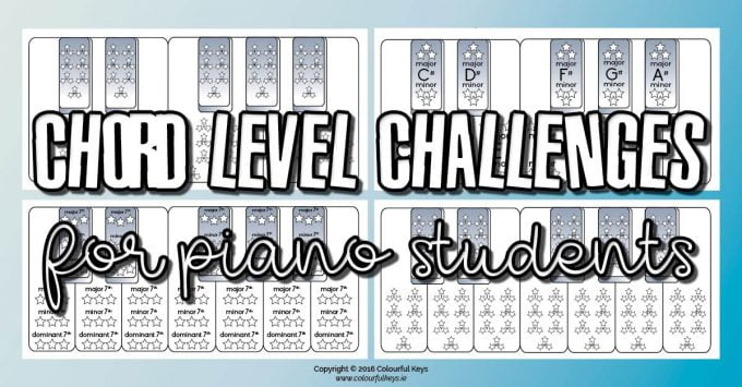 Chord level challenges for piano students