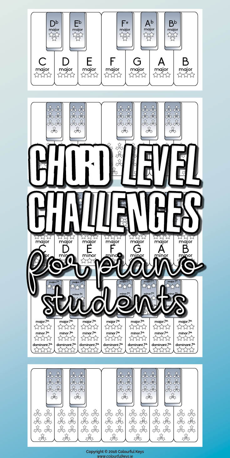 Piano chord goals and challenges