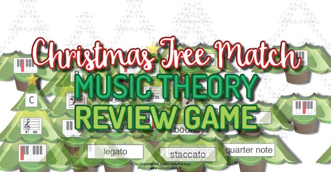 Christmas music theory game