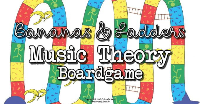 Bananas and ladders music theory boardgame