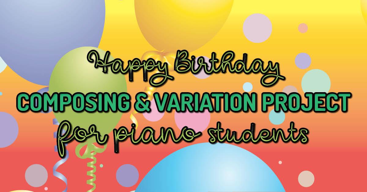 Happy Birthday music project