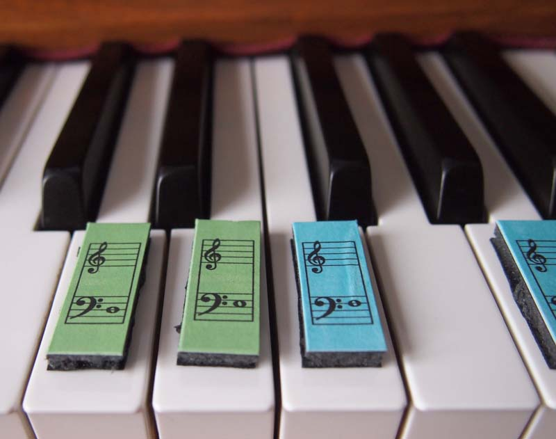 photograph regarding Piano Flash Cards Printable called Piano Puzzle - Piano flashcards that suit the keys