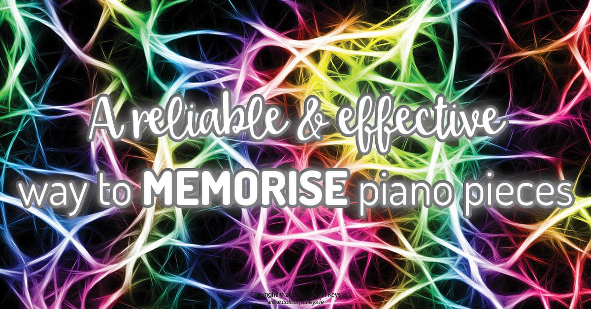 How to memorise piano pieces
