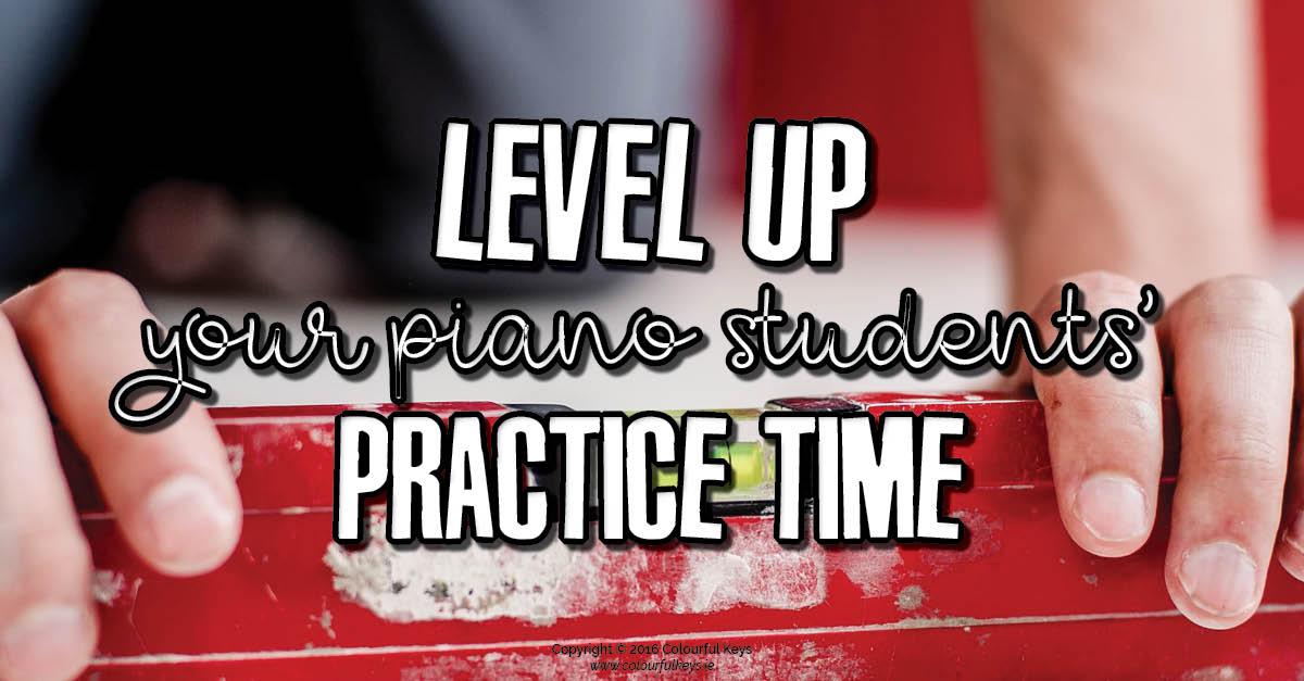 Level-up piano practice