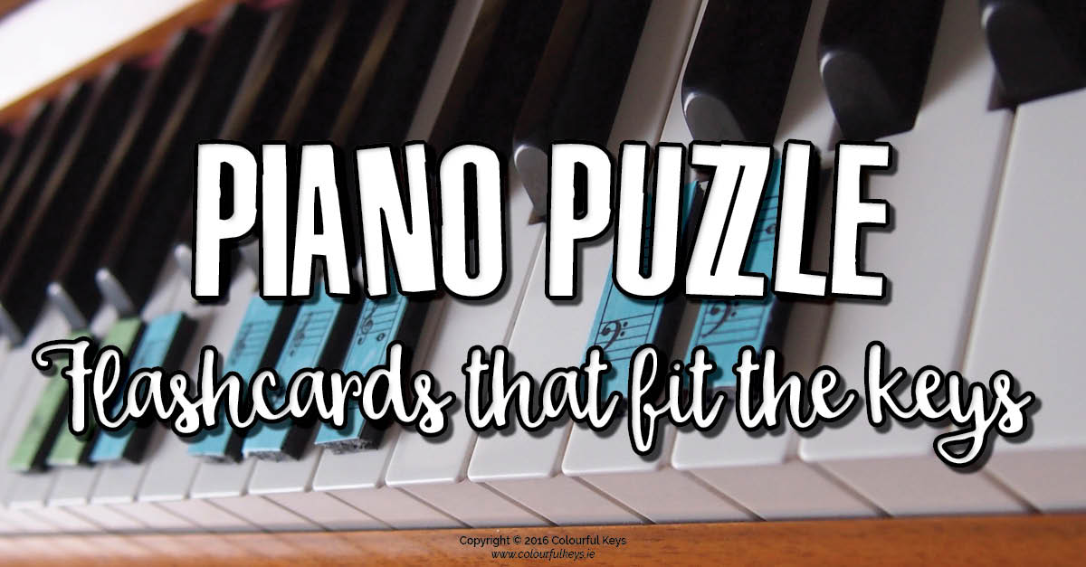 photograph about Piano Flash Cards Printable identified as Piano Puzzle - Piano flashcards that in good shape the keys
