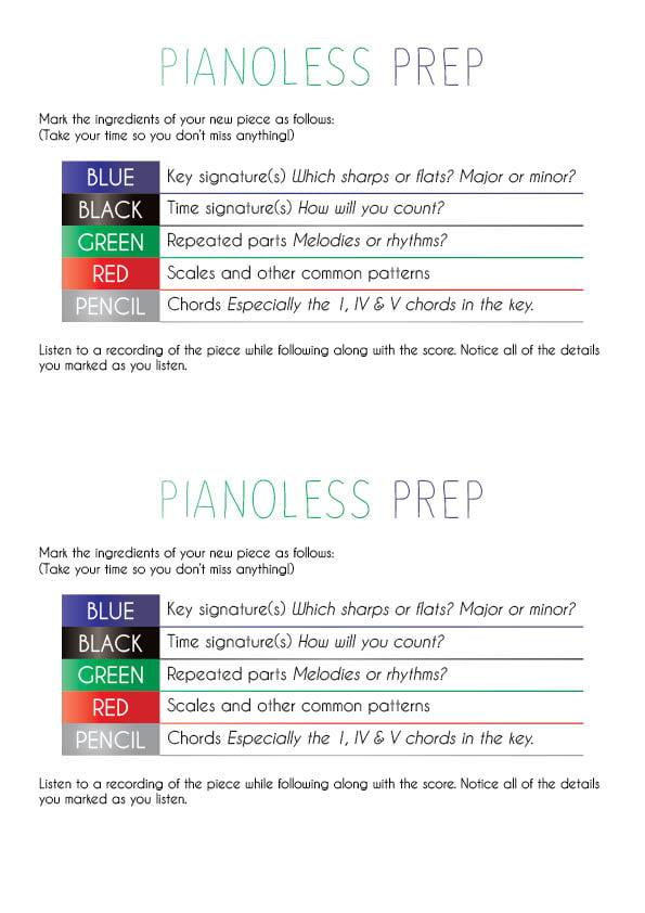 pianoless prep