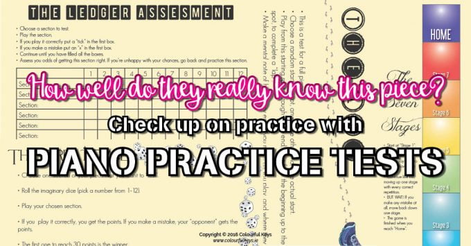 Effective Piano Practice Part 5 – Piano Piece Tests