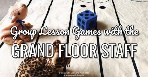 Group Lesson Activities Grand Staff Twister & Grand Staff Beanbag Toss