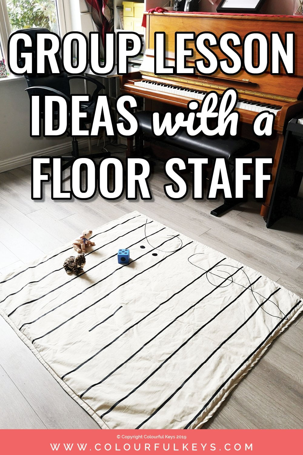 ideas for using a floor staff in group lessons and how to make a floor staff