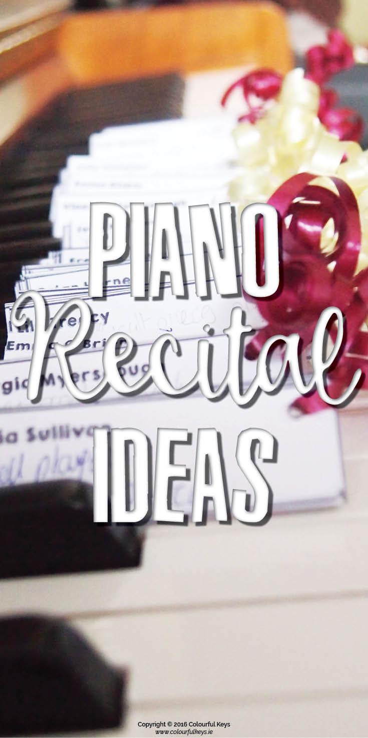 piano recital ideas