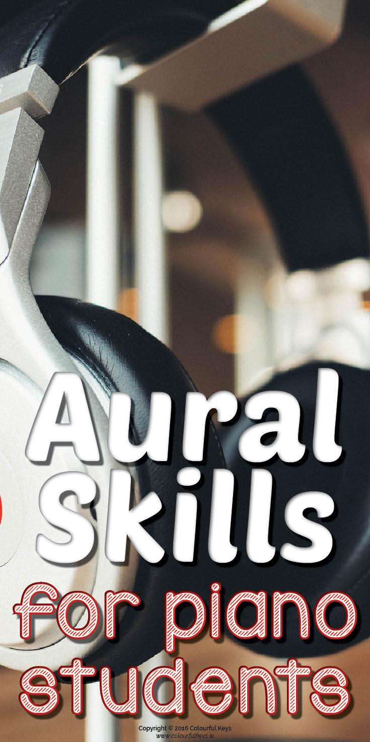 Aural skills in the piano studio