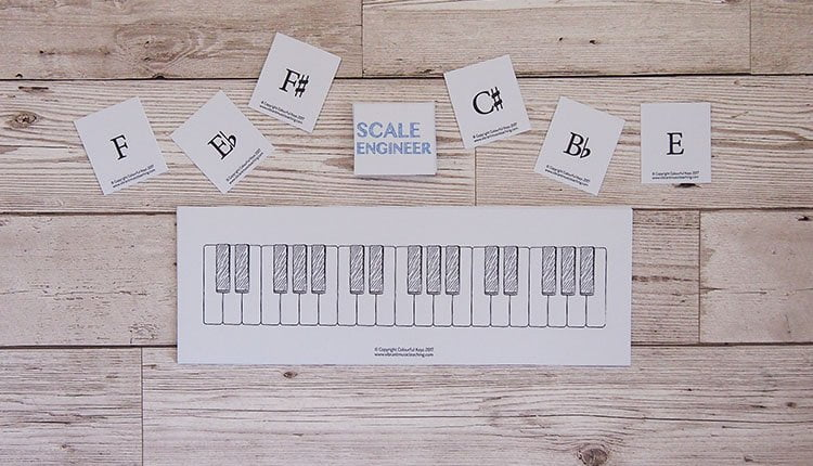 Scale Engineer music theory game from the Vibrant Music Teaching library