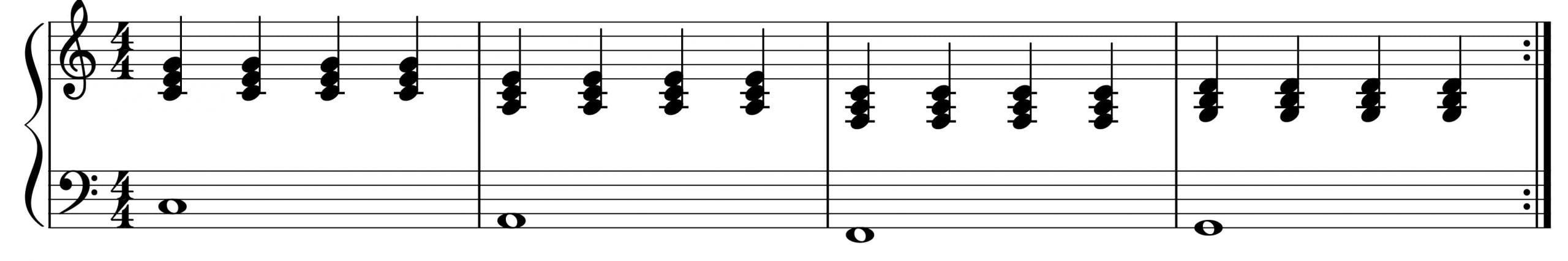 four chords in C plain