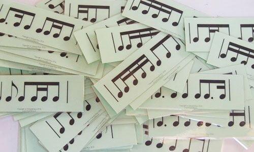 Level 4 rhythm vocab cards
