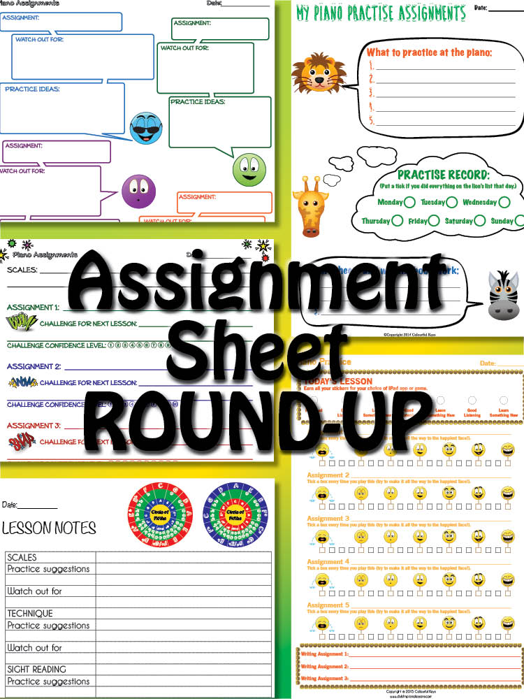 Lesson Assignment Sheets Round-up