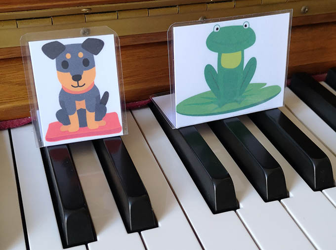 Dogs and Frogs in preschool piano lessons