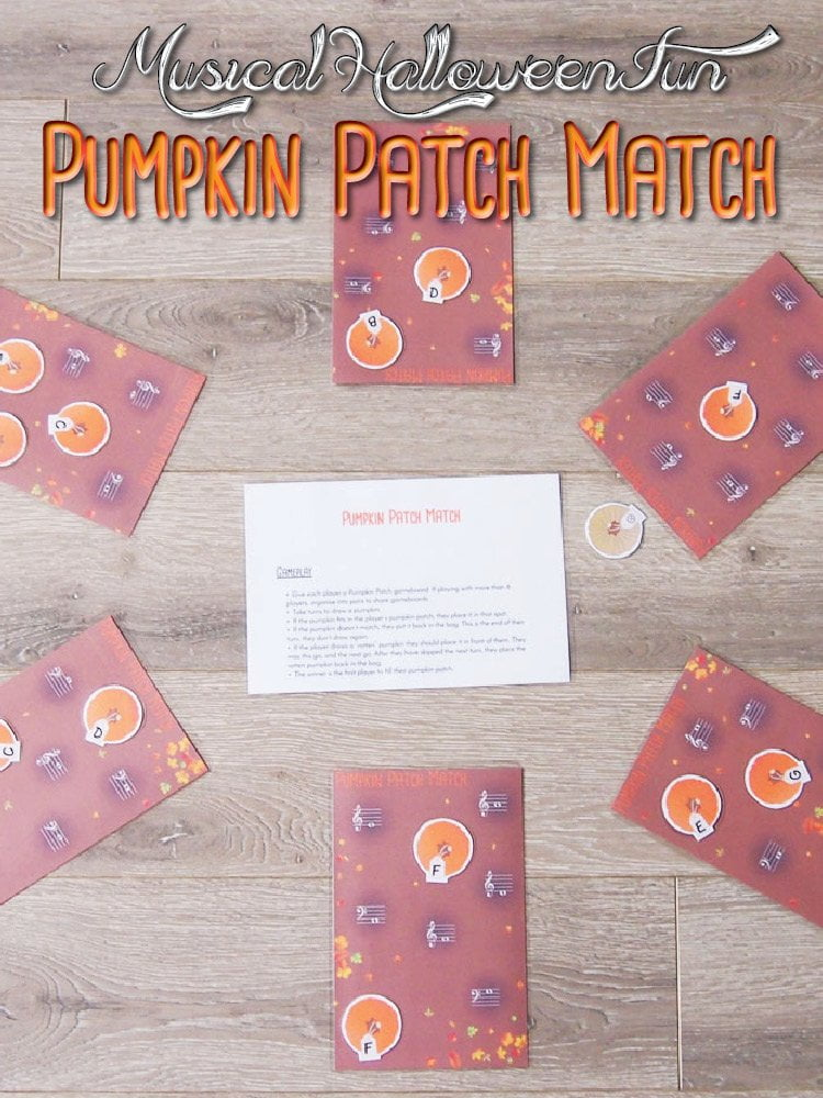 Pumpkin Patch Match Music Theory Game
