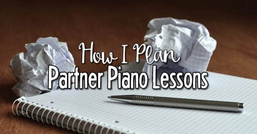 Lesson planning for partner piano lessons