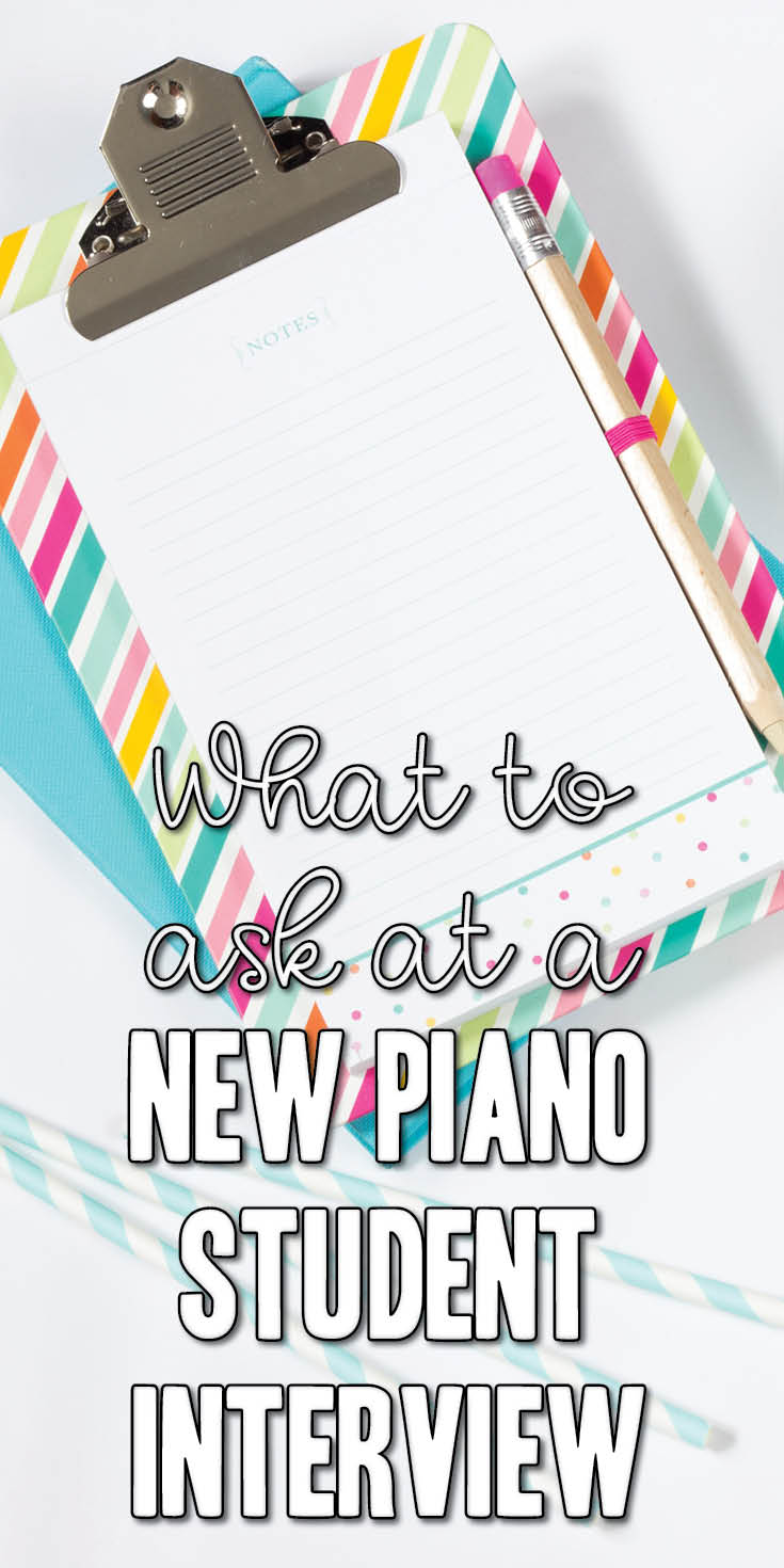 Questions to ask at piano student interview