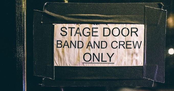 backstage sign