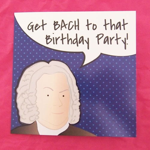 Blue Bach Birthday Cards