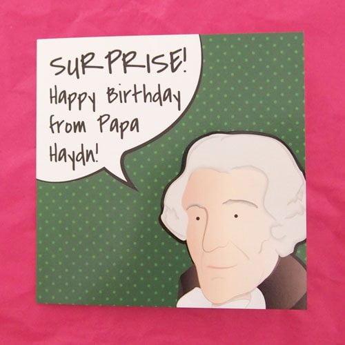 Green Haydn Birthday Cards