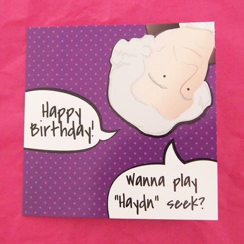 Purple Haydn Birthday Cards