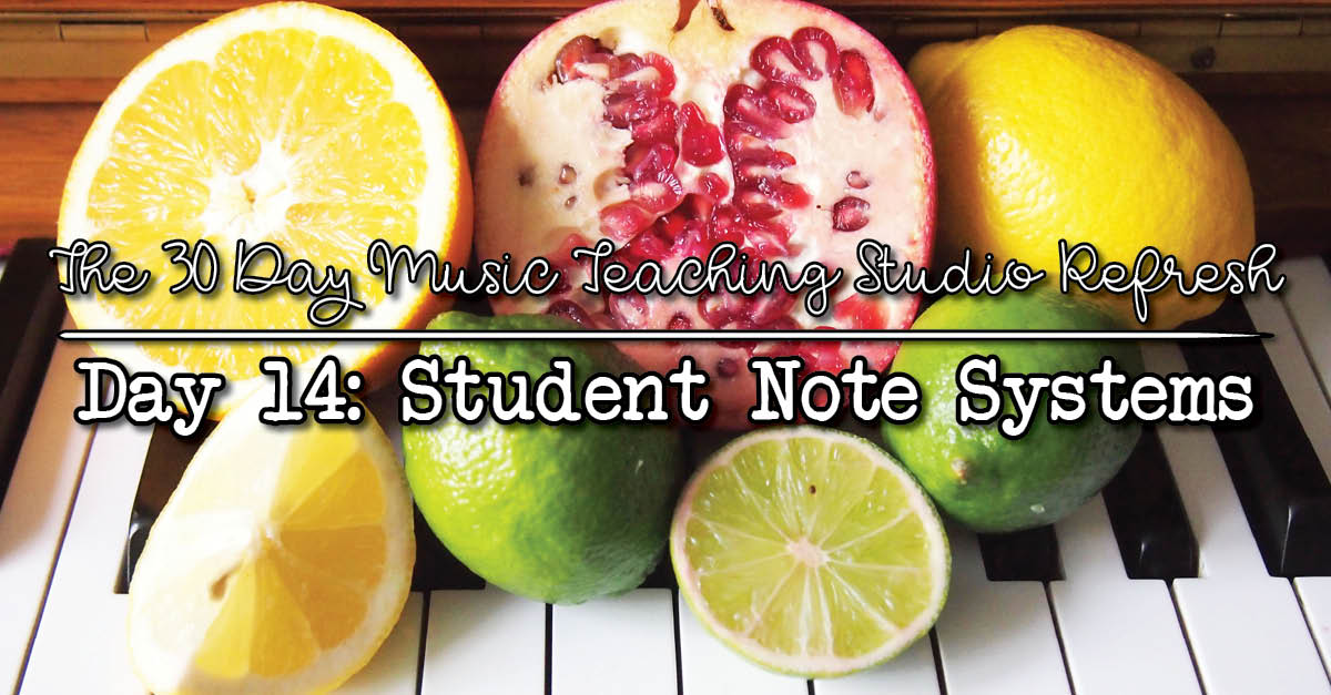 Keeping track of students in the music studio.