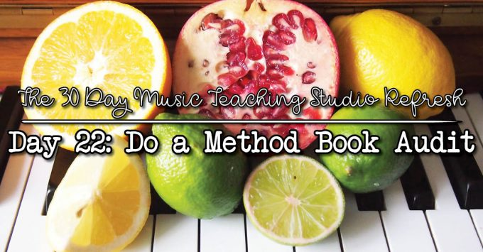 30DSR Day 22: Conduct a Method Book Audit