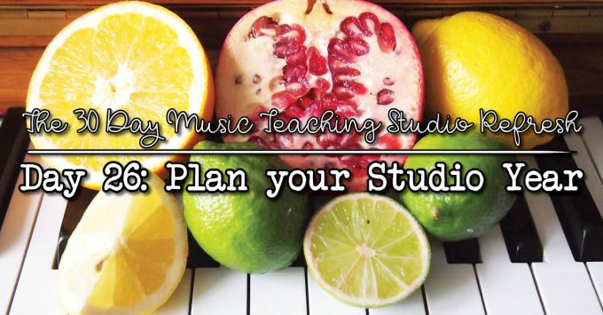 30DSR Day 26 Plan your music studio year