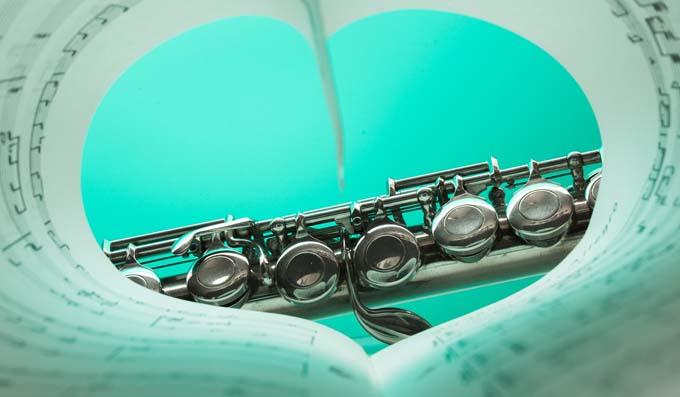 Flute heart music love
