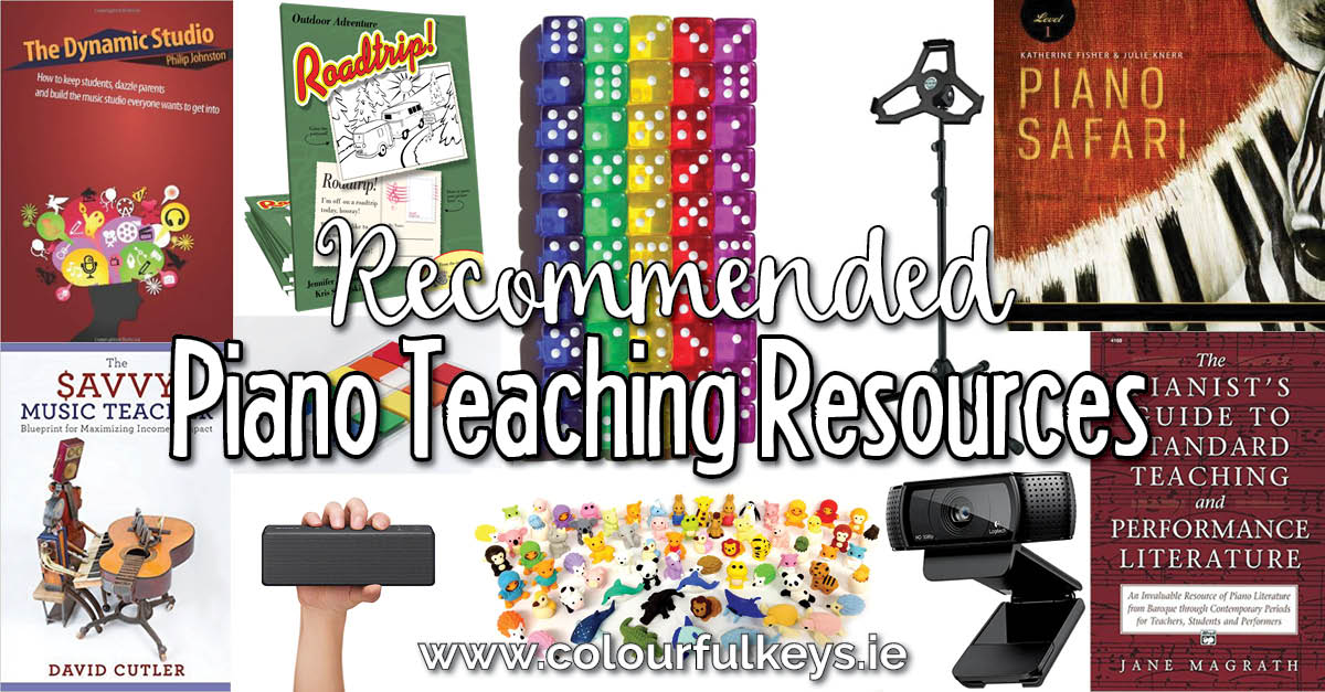 Recommended resources for piano teachers