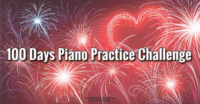 Practicing for 100 days in a row leads to a reliable habit for piano students