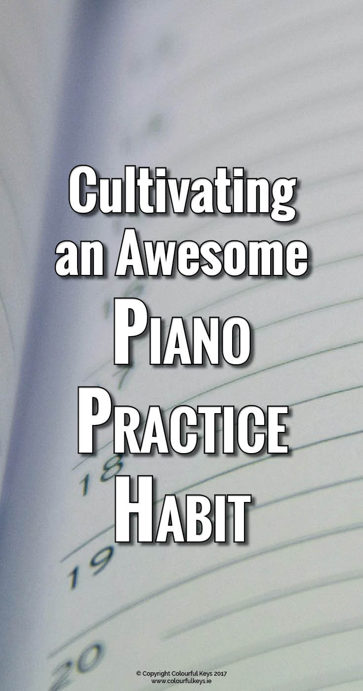 Piano practicing challenge to create a practice habit