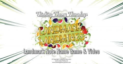 Teaching music using landmark note names