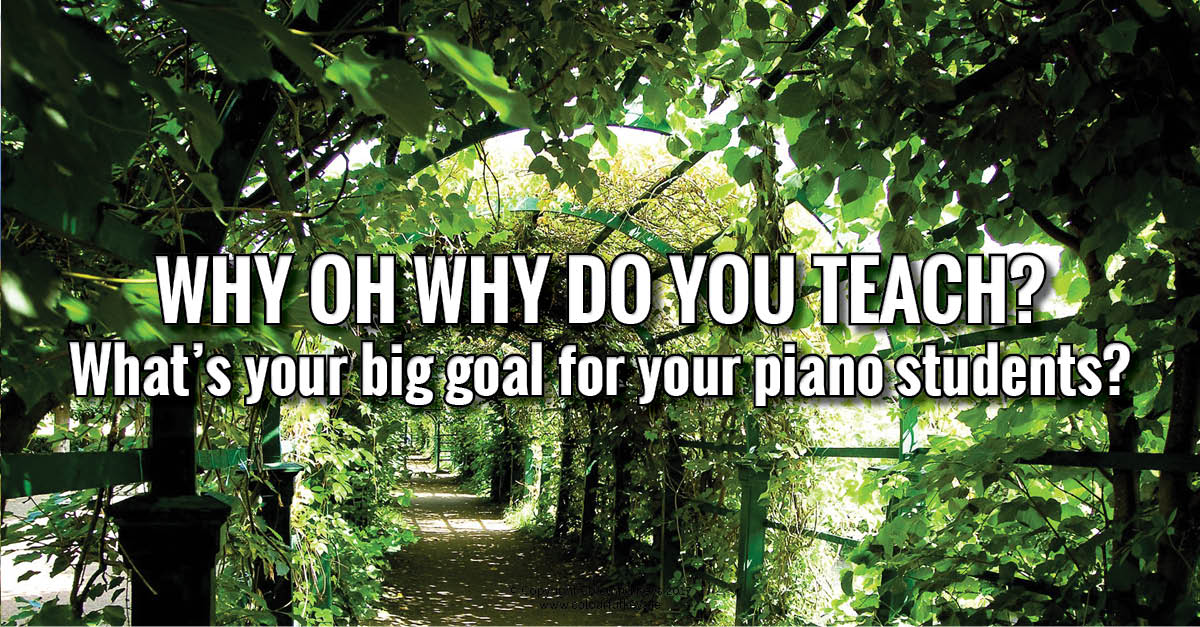 Big goals for your piano studio