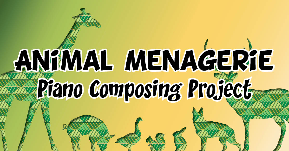 animal menagerie piano student composing project