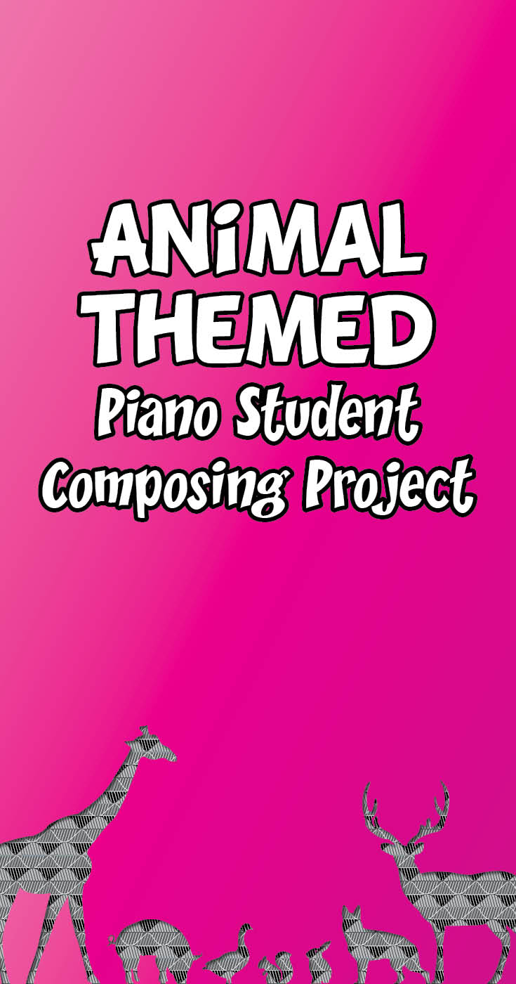 Animal themed music student composing project