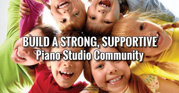 how to build piano studio community