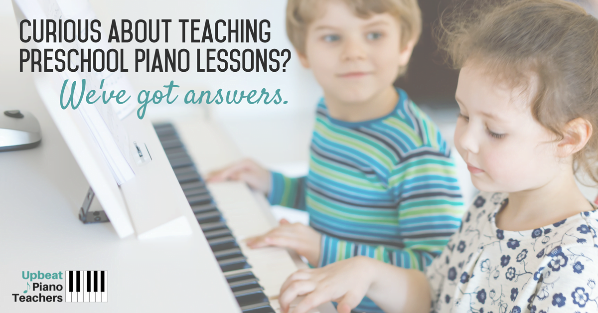 Teaching preschool piano lessons