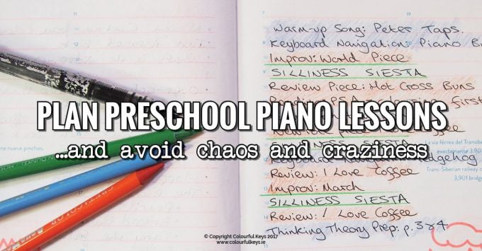 Preschool piano lesson planning