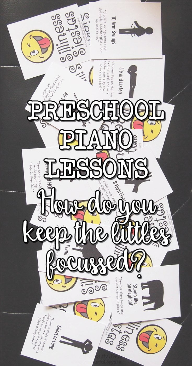 How do you keep the focus of your youngest piano students?